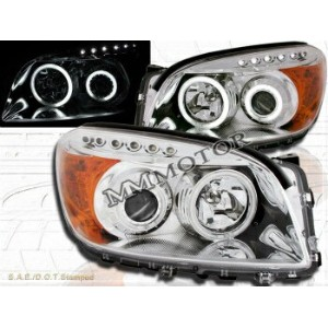 トヨタ RAV4 ヘッドライト 06-08 Rav4 CCFL Angel Eye Halo Projector Headlights Chrome LED 07 06-08 RAV4...