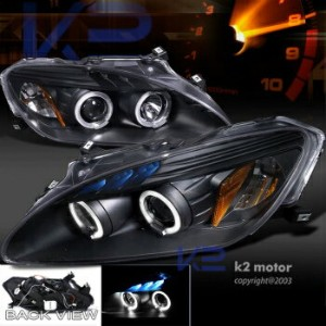 ホンダ S2000 ヘッドライト For 2000-2003 Honda S2000 Halo+LED Projector Headlights Black 2000-2003ホンダS2000ヘイロー...