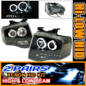Ford Expedition ヘッドライト 2Set HID 07-09 Expedition CCFL Halo Projector Headlight 2SETは07-09遠征CCFLヘイロープ...