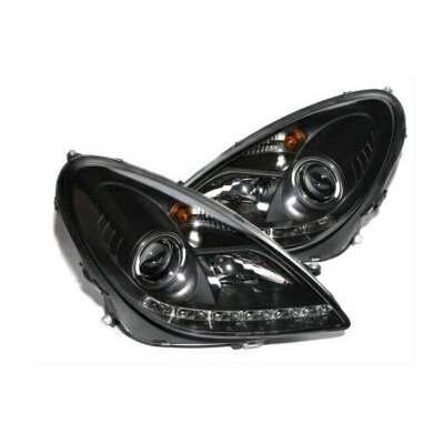 ベンツ ヘッドライト R171 2004-2011 04-11 Projector LED R8Look HEADLIGHT Black Mercedes Benz 2006 06 R171...