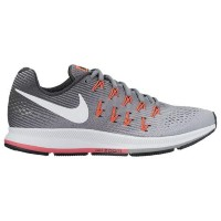 (取寄)Nike ナイキ レディース エア ズーム ペガサス 33 Nike Women's Air Zoom Pegasus 33 Wolf Grey White Black Hot Punch