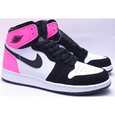 【レディース ボーイズ ウィメンズサイズ】2017 NIKE AIR JORDAN 1 RETRO HIGH OG GG Valentine's Day black/white/pink ナイキ...