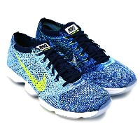WMNS NIKE FLYKNIT ZOOM AGILITY BLUE GLOW/VOLT-CLLG NAVY-WHT ウィメンズ ナイキ フライニット ズーム アジリティ