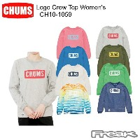 CHUMS チャムス CH10-1059 Logo Crew Top Women's ロゴクルートップ  ※取り寄せ品