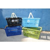 S.H.O.ENTERPRISE Market Basket L(Goodyear) Blue 青 22×44×31.5cm 0069471-0004
