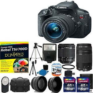 Canon EOS Rebel T5i 18.0 MP CMOS デジタル Camera HD ビデオ デジタル SLR Camera with Canon EF-S 18-55mm f/3.5-5...