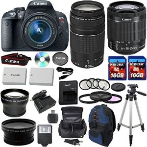 Canon EOS Rebel T5i 18.0 MP CMOS デジタル Camera HD ビデオ w/ EF-S 18-55mm f/3.5-5.6 IS STM Zoom レンズ +EF...