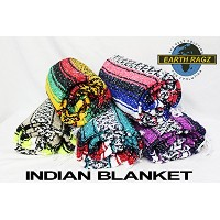 """EARTH RAGZ by RAMATEX / インディアンブランケット MADE IN MEXICO """"INDIAN BLANKET"""" (A~C) (A)"""