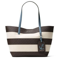 マイケルマイケルコース トートバッグ 30H6SIFT3C Michael Michael Kors 190049513606Illustrations Large Striped Tote Bag...
