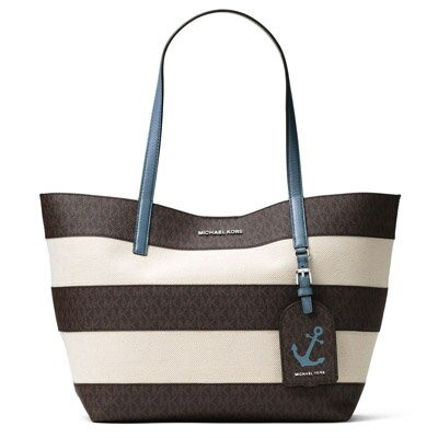 マイケルマイケルコース トートバッグ Michael Michael Kors 190049513606Illustrations Large Striped Tote Bag (Brown...