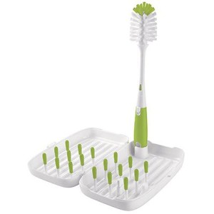 OXO Tot On-the-Go Travel Drying Rack with Bottle Brush- Green by OXO [並行輸入品]