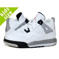 【キッズサイズ】【16-22cm】NIKE AIR JORDAN 4 RETRO PS ナイキ エア ジョーダン 4 PS WHITE/FIRE RED/BLACK/MTT SILVER