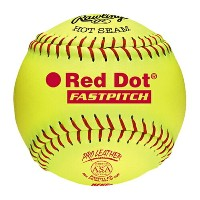 ローリングス 赤 レッド レディース RAWLINGS RED DOT ASA NFHS FASTPITCH SOFTBALLS