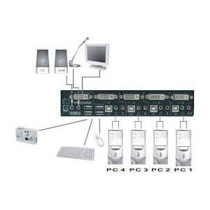 Rextron DVI USB KVM Switch DAKG-14
