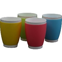 Suner 14-ounce Plastic Cup Set of 4,red blue yellow green,Dishwasher Safe by Suner [並行輸入品]
