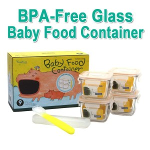[Glasslock]Baby Food Containers 4ea Set 3Type Storage/Freeze Puree Stock/Safe Lightweight Glass★BPA...