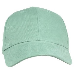 Womens Hat Fine Brushed Cotton Ball Cap in Seafoam Green