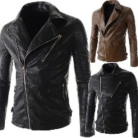 High Quality Fashion Men Leather Jacket Collar Men s Leather Motorcycle Leather Winter Jacket Coat