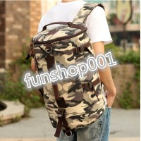 Bucket bag Korean man bag men and women backpack schoolbag tide computer bag leisure travel bag...