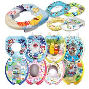 ★Potty Training For Kids★ Character Toilet Seat / Hello Kitty / Larva/Tayo/Robot Train/Made in...