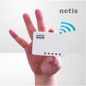 [NETIS] Portable Mini Wireless WiFi Router / travel / outdoor / smart phone / TV / Antenna / USB /...