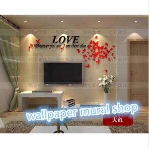 Acrylic Material DIY Crystal stereo Wall Sticker*Wall Decal Romantic Home Decoration Home Decor for...