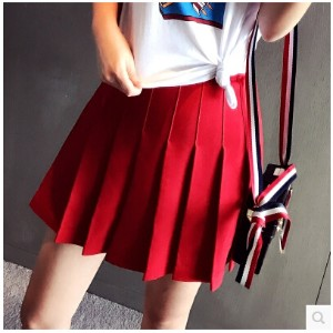 Korean version of the age of the red high waist pleated skirt was thin skirt skirt