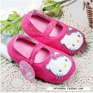 Korea hello kitty Hello Kitty slippers infant baby shoes toddler shoes home mute shoes dance shoes