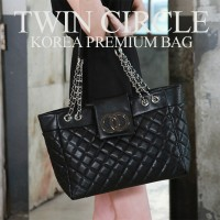 Twin Clrcle Chain Shopping Bag/レディスバッグ/ 結婚式 OL用 / ポーチ/バッグ/High Quality/HOLLYWOOD STYLEブランドレベルの品質...