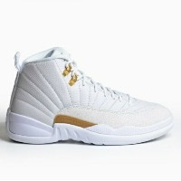 "Jordan Retro 12 XII ""October's Very Own"" メンズ White/Metallic Gold ジョーダン レトロ バッシュ"