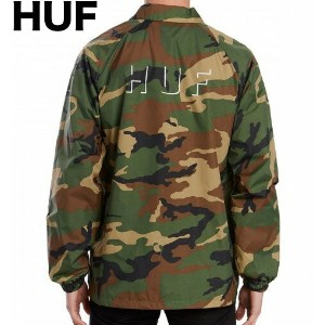HUF Shadow Coaches Jacket Woodland XL コーチジャケット