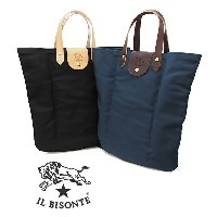IL BISONTE イルビゾンテ ナイロン×レザー トートバッグ L0673NY 全2色 折りたたみトートバッグ 折り畳み イルビゾンテ バッグ