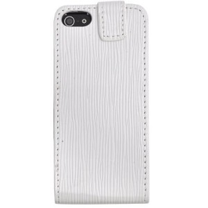 PLATA iPhone SE / 5s / 5 レザー ケース ポーチ ホワイト pc pu for iPhone SE / 5s / 5 case IP5-5009WH