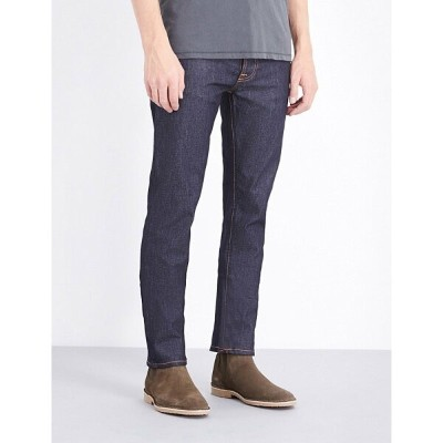 ヌーディージーンズ nudie jeans メンズ ボトムス ジーンズ【grim tim regular-fit straight-leg jeans】Dry open navy