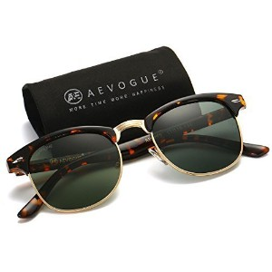 [アメリカ直送] AEVOGUE Polarized Sunglasses Semi-Rimless Frame Brand Designer Classic AE0369