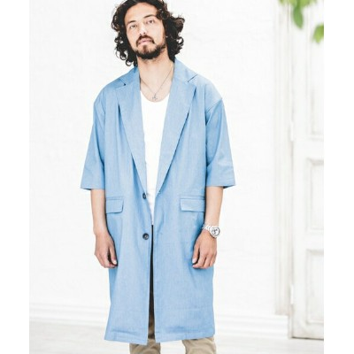 【CAMBIO(カンビオ)】Chambray 3/4 Sleeve Chester Field Coat コート