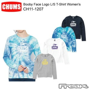 CHUMS チャムス LS Tシャツ CH11-1207 Booby Face Logo L/S T-Shirt Women's ブービーフェイスロゴ長袖Tシャツ  ※取り寄せ品