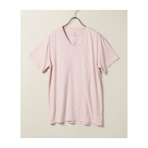 S/S Oatmeal Heather V-Neck Tee【ジャーナルスタンダード/JOURNAL STANDARD メンズ Tシャツ・カットソー ピンク A ルミネ LUMINE】