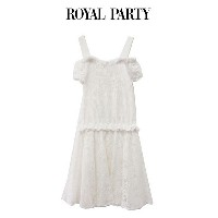 SALE50%OFF ROYAL PARTY ロイヤルパーティー シャーリングトップスコンビワンピース 7242-841-1(ポイント2倍 22日23時59分まで)