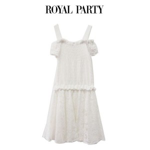 SALE50%OFF ROYAL PARTY ロイヤルパーティー シャーリングトップスコンビワンピース 7242-841-1(ポイント3倍 26日9時59分まで)
