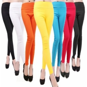 Spring Summer Autumn Multicolor Lady Women s Sexy candy colored Stretch High Waist Pencil Pants Legg