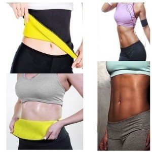 Hot Thermo Sweat Neoprene Body Shaper Slimming Belt Waist Trainer Cincher Girdle Tummy Control...