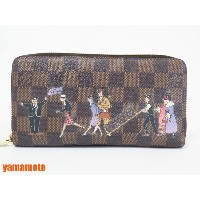 LOUIS VUITTON ルイヴィトン ダミエ イリュストレ ジッピーウォレット ラウンドファスナー財布 プリント 2011年 N63004 【中古】