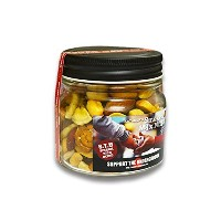 """【MUNCHIE FOODS/マンチーフーズ】「Smoked Mix Nuts""""SxTxU Special Rich Blend Charity Bottle""""/スモークドミックスナッツ..."""