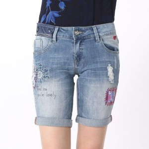 【SALE 50%OFF】デシグアル Desigual DENIM_BERMUD (DENIM MEDIUM WASH)