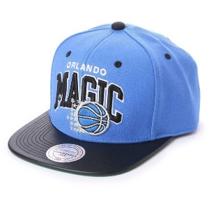 【SALE 46%OFF】ミッチェル アンド ネス MITCHEL & NESS atmos ARCH LEATHER VISOR SNAPBACK (BLUE)