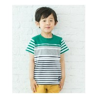 【SALE/40%OFF】3can4on(Kids) パネルボーダーTシャツ サンカンシオン カットソー【RBA_S】【RBA_E】