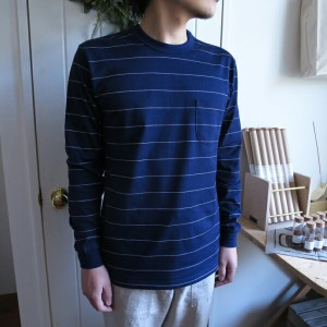 ENDS and MEANS Border Pocket Tee Long Sleeve エンズアンドミーンズ ボーダー 長袖ポケットTシャツ