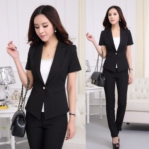 Formal Black Blazer Women suits with Pants and Jacket Sets Trousers Suits Ladies 2015 Spring Summer...