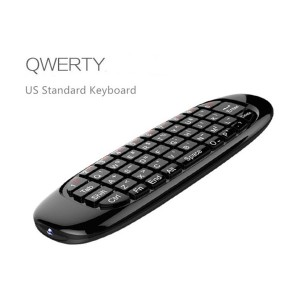 Gyroscope Fly Air Mouse C120 Wireless Game Keyboard Android Remote Controller Rechargeable 2.4GHz